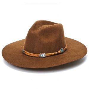 Brown Rancher Hat with Braided Band
